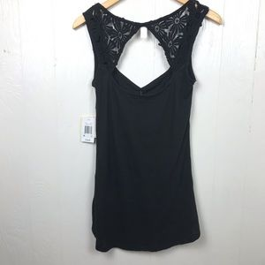 Threads 4 Thought Tops - New Threads 4 Thought Black Embellished Tank Top M